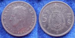 SPAIN - 5 Pesetas 1982 KM# 823 Juan Carlos I (1975-2014) - Edelweiss Coins - Andere