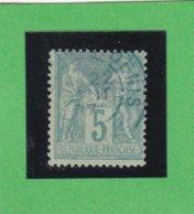 SAGE N° 75 TYPE IIB   - CACHET BLEU  - REF 1602 - 1876-1898 Sage (Type II)