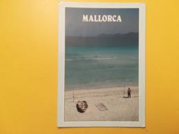 CARTOLINA POSTCARD SPAGNA ESPANA 2009 MALLORCA ALCUDIA  BOLLO ETICHETTA DISTRIBUTORE DISTRIBUTEURE OBLITERE  ANNULLO - Mallorca