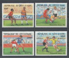 Côte D'Ivoire - YT 721-724 ** MNH - 1985 - Mexico 86 - Coupe Du Monde De Football - Côte D'Ivoire (1960-...)