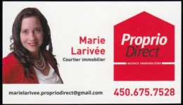 Proprio Direct Courtier Immobilier, Laval Québec (VC611) - Visiting Cards