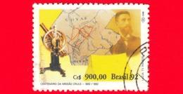 BRASILE - Usato - 1992 - Centenario Della Missione Luis Cruls - 900 - Brazilië