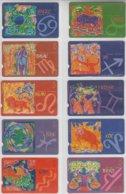 TURKEY 2002 ZODIAC HOROSCOPE FULL SET OF 12 PHONE CARDS - Zodiaco