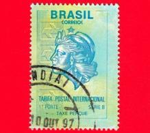 BRASILE - Usato - 1993 - Tariffa Postale Internazionale - Posta Ordinaria - Serie B - 1st Class - Brazilië