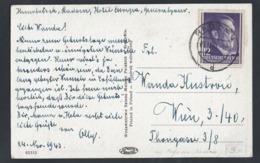 """T90.""""K. Zhelechowski. Nach Dem Matchmaking""""Post 1943 Radom (Polen) Wien (Österreich). Drittes Reich. Generalgouvernement - Covers & Documents"""