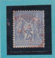 SAGE N° 78 TYPE IIB   - CACHET ROUGE AFFRANCHISSEMENTS   - REF 1602 - 1876-1898 Sage (Type II)