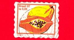 BRASILE - Usato - 1997 - Frutta - Papaya - Mamao - 0.05 - Brazilië