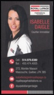 Royal LePage Courtier Immobilier, Mascouche Québec (VC604) - Visiting Cards