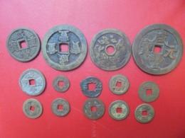 LOT 14 CHINE ANCIENNE DONT 4 GROS FORMAT - Munten & Bankbiljetten