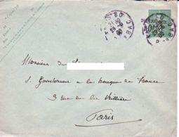 FRANCE : 1906 - Taxe Réduite Sur Entier  à Destination Du Gouverneur De La Banque De France - Entiers Postaux