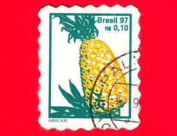 BRASILE - Usato - 1997 - Frutta -  Ananas - 0.10 - Brazilië