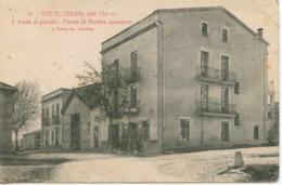Tarjeta Postal. CASTELLTERSOL (Barcelona) - Fonda La Violeta - CIRCULADA - Barcelona