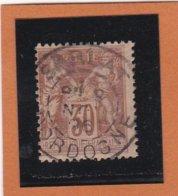 SAGE N° 80   - CACHET A DATE  SARLAT  /  DORDOGNE - 1 NOV. 1896  - REF 1602 - 1876-1898 Sage (Type II)