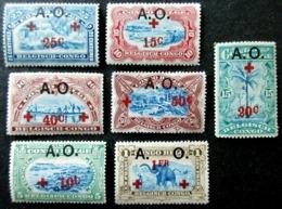 1918 CONGO BELGE RUANDA-UNRUNDI Yt 36 / 42 CROIX ROUGE NEUFS CHARNIERES - 1916-22: Neufs