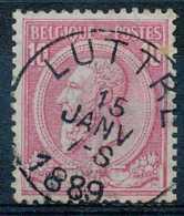 [103867]TB//O/Used-N° 46, 10c Rose Sur Bleuté, S.M. Le Roi Léopold II, Oblitération 'LUTTRE'. - 1884-1891 Leopold II