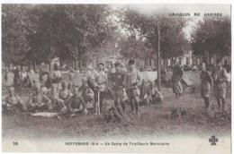 Croquis De Guerre Septembre 1914 Un Camp De Tirailleurs Marocains - Guerre 1914-18