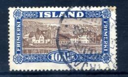 1925 ISLANDA N.116 USATO - 1918-1944 Amministrazione Autonoma