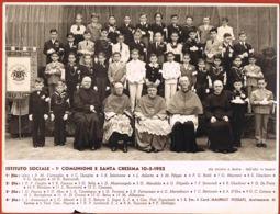 PHOTO-Istituto Sociale TORINO- 1ere Communione E Santa Cresima 10.5.1952-con Nome Di Ragazzi-Card MAURILILIO FOSSATI - Other