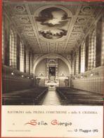 PHOTO-Cappella Istituto Sociale TORINO-Ricordo Delle Prima Communione E Della S.CRESIMA Di SELLA Giorgio- 10 Maggio 1952 - Other