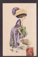 CPA Mode Chapeau Femme Girl Woman Glamour Circulé Par Julia - Vrouwen
