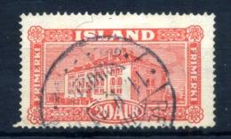 1925 ISLANDA N.117 USATO - 1918-1944 Amministrazione Autonoma