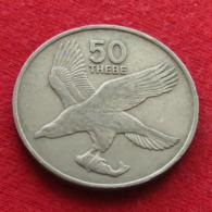 Botswana 50 Thebe 1977 KM# 7 Bird  Botsuana - Botswana