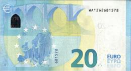 ! 20 Euro, W001D6, WA1262681578, Currency, Banknote, Billet Mario Draghi, EZB, Europäische Zentralbank - EURO