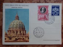 VATICANO - Intero Postale Del 1953 Timbrato Con Francobollo Aggiunto + Spese Postali - Entiers Postaux