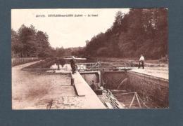 45  -  CONFLANS Sur LOING   -   427 5 33   LE CANAL   ( Péniche Au Passage D'une écluse ) - Francia