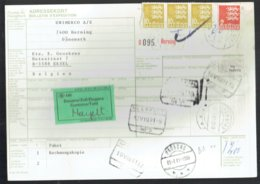 Bulletin D'expédition International - Herning Danemark Vers Eksel Belgique 1981 - Obl-Hernig-Neerpeld-Hassel-Padborg - Colis Postaux
