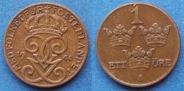 SWEDEN - 1 öre 1940 KM# 777.2 Gustav V (1907-1950) Bronze - Edelweiss Coins - Schweden