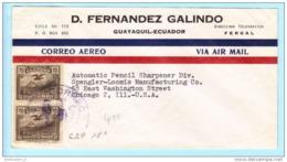 ECUADOR EQUATEUR Brief Cover Lettre Firma Commercial 386 (Paar) Vogel Kondor (18144) - Equateur