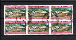 MADAGASCAR   N° 486  EN BLOC DE SIX  TIMBRES   OBLITERES   COTE 1.20€   INDUSTRIE - Madagascar (1960-...)