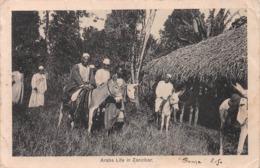 """ZANZIBAR - """"ARABS LIFE"""" ~ A 103 YEAR OLD POSTCARD #9B10 - Tanzania"""