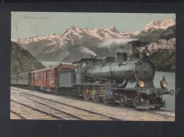 Schweiz AK Gotthard Express 1908 - Treinen