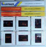 COLLONGES-LA-ROUGE   1/2/3    : 18 DIAPOSITIVES LESTRADE SUR FILM KODAK - Diapositives