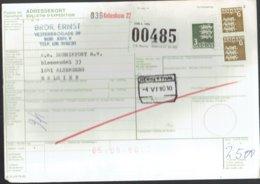 Bulletin D'expédition International - Kobenhavn Danemark Vers Alsemberg Belgique 1980 - Obl - Kobenhavn-Herbesthal - Colis Postaux