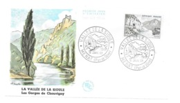 Enveloppe Premier Jour La Vallée De La Sioule 1960 - 1239 (Yvert Et Tellier) 0.65 C - FDC