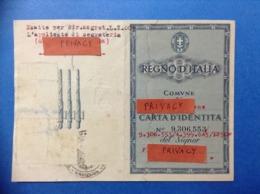 1943 ITALIA REGNO TESSERA CARTA IDENTITA CON FASCI - Historische Documenten