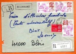 MAURY N° 1872 USSEL  Recommandé 1978 37 CHARENTILLY  Lettre Entière N° RR 31 - Marcofilia (sobres)
