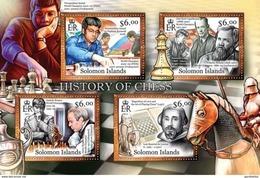 SOLOMON ISLANDS 2013 SHEET HISTORY OF CHESS AJEDREZ SCHACHS SCACCHI ECHECS XADREZ Slm13118a - Solomoneilanden (1978-...)