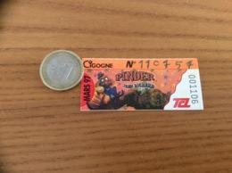 """Ticket De Transport (Bus, Métro, Tramway) TCL Abonnement """"MARS 97 - CIGOGNE - PINDER JEAN RICHARD (cirque)"""" LYON (69) - Bus"""