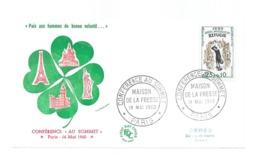 Enveloppe Premier Jour 1960 FDC - CONFÉRENCE AU SOMMET Paris 16 Mai 1960 - FDC