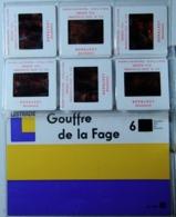 GOUFFRE DE LA FAGE      : POCHETTE DE 6 DIAPOSITIVES LESTRADE SUR FILM KODAK - Diapositives (slides)