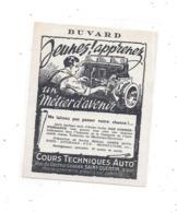 Buvard, Jeunes Apprenez Un Métier D'avenir - Cours Technique Auto, SAINT QUENTIN (Aisne) - Automotive