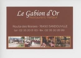 """Sandouville : Restaurant """"Le Gabion D'Or"""" Route Des Falaises (carte Visite Multivues) - Sonstige Gemeinden"""