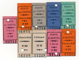 1904/05 // PARIS // 1 Ane/1 Voiture à Bras/1 Cheval Ou Mulet Etc. // 9 TICKETS - Notgeld