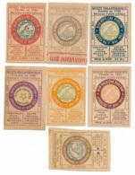 1887-1909 // PARIS // SOCIETE PHILANTHROPIQUE // 7 Bons - Notgeld