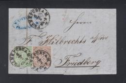 NDP Faltbrief 1869 Frankfurt Nach Friedberg - Norddeutscher Postbezirk (Confederazione Germ. Del Nord)