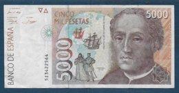 Billet  5000 Pesetas De 1992 - [ 4] 1975-… : Juan Carlos I
